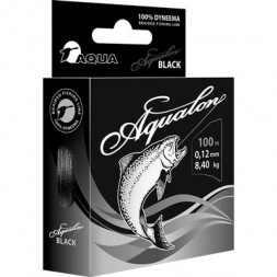 Леска плетеная AQUA Aqualon Black 0.12 100м