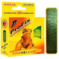 Леска плетеная AQUA ProFix Chameleon 3D Jungle 0.12 100м